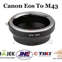 Adapter Canon Eos to M43 Olympus dan Panasonic Lumix Xiaomi Yi M1 -