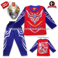 Baju Anak Kostum Ultramen + Aksesoris Topeng