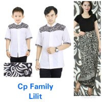 Melia Couple batik 3in1 baju koko bapak anak dan rok lilit Fit to XXL