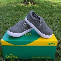 Sepatu Anak Laki-Laki Model Slip On Abu Murah Trendy Casual Stylist
