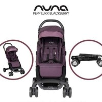 Nuna Pepp Stroller Luxx Blackberry With Arm Bar FREE Transport Bag