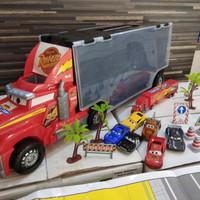 cars loading racing truck mainan mobil lightning mcqueen