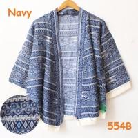 TOP MODEL New cardigan kimono tribal batik bunga matahari katun adem