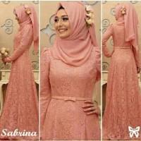 Hijab Sabrina Peach Busana Muslim Wanita Gamis Terbaru Dress Muslim