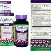cuci gudang Acai Berry Diet 60 caps  Natrol