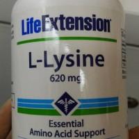 produk istimewa L- Lysine 620mg 100 caps Life Extension