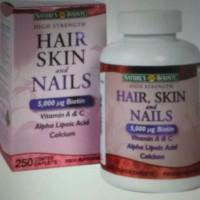 kualitas bagus Hair Skin & Nail 5000mcg. 250 caps