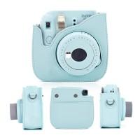 Fujifilm Polaroid Instax Mini 8 / 9 Leather Bag / Tas / Case Ice Blue