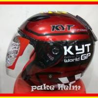 Helm Kyt Dj Maru Motif World Gp 11 Merah Half Face Djmaru dm223