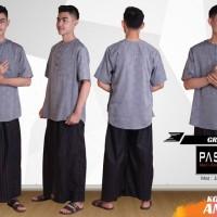 Pasha Koko Casual Annabiel - Grey | Baju Koko Muslim Trend Rhamadan