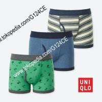 CELANA DALAM ANAK LAKI UNIQLO Boxer Briefs 3 lembar 405463 green 54