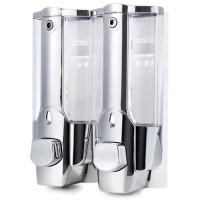 Dispenser Sabun Cair dan Shampo 2 Tabung Touch Soap Dispenser