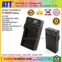 ATT Charger for Canon EOS 1000D 450D 500D - LP-E5 Battery (DC-CAN-12)