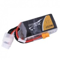 Tattu 650mAh 4S1P 75C 14.8V Lipo battery with XT30 plug