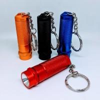 senter mini murah led keychain + gantungan kunci