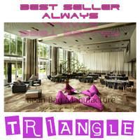 Triangle Beanbag Sofa Santai Dekorasi Pantai Cafe Hotel Resto Bar