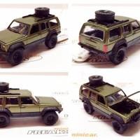 Johnny Lightning 64 Scale Jeep Cherokee Green Met