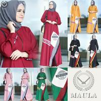 Gamis Wanita MAULA DRESS Busana Muslim By Dobu