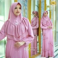 Dress / Gamis Warna  Pink, Hijau, Moca Bahan Wolfis Super Bagus 408