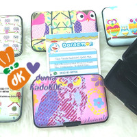 Dompet clip untuk kartu/alat kosmetik motif animal lucu