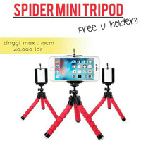 Spider Mini Tripod + Holder Gorillapod Standing Hp Flexible Universal