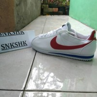 NIKE CORTEZ NYLON FOREST GUMP White GYM RED