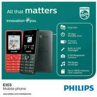 Philips E103 E 103 Garansi Resmi Philips HP Murah Feature Phone