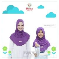 monia Hijab Kids Jilbab Anak Jilbab Instan Anak Nabila size XL ungu