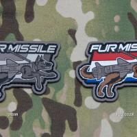 Mil Spec Monkey Fur Missile rubber morale patch
