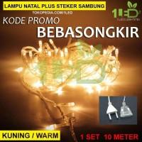 Lampu Natal LED Warm White kuning Twinkle Light hias tumblr dekorasi