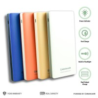 POWERBANK DELCELL ECO SLIM 10000MAH REAL CAPACITY 100% Product Asli