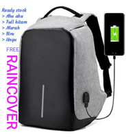 Tas Ransel USB port charger,Smart Backpack Anti Air Anti Maling-thief