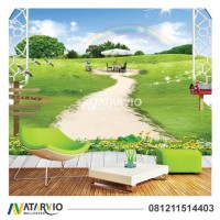 Wallpaper Custom Printing - Wallsticker Dinding Custom Tema Taman
