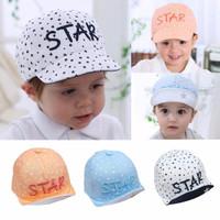 Topi baseball import anak usia 6 bulan sampai 2 tahun keren motif star