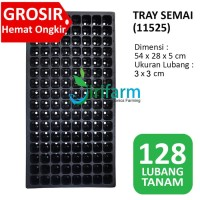 15 pcs Tray semai / Bibit / Pot 128 Lubang 54x28x5 cm Hidroponik