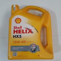 Oli mesin Shell Helix API SN HX 5 15W-40. 4 ltr