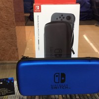 NINTENDO SWITCH AIRFORM / HARD POUCH TRAVEL CASE 3RD PARTY BLUE