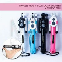 Tongsis 3 In 1 - Tongsis Tripod Bluetooth Multifungsi 3 In 1