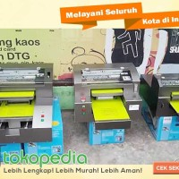 PAKET ALAT DIGITAL SABLON PRINTER KAOS DTG A3 DAN MESIN PRESS