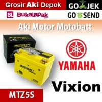 Aki kering gel Vixion Yamaha MOTOBATT MTZ5S accu motor u/ GS Yuasa