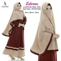 Original Gamis Zahrana set syari by Sazra plus khimar & Cadar SALE