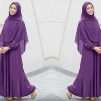 Gamis Hijab Maxi Dress Busui Cheris Oki 3 in 1 ( Dress + Pasmi Baru