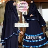 Gamis Syari Setelan Cadar Busana Muslimah Polos Cantik ROBBANI Murah