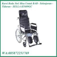 Kursi Roda 3in1 Bisa Untuk BAB - Selonjoran - SELLA KY609GC
