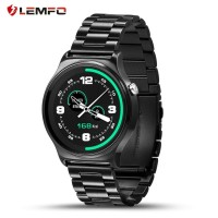 LEMFO GW01 Smartwatch dgn HR + Bluetooth - Rantai Black (READY STOCK)