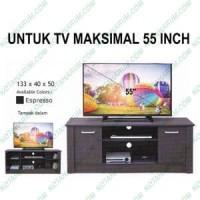 Meja rak tv simpel simple besar 133 cm hitam coklat murah bandung