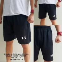 Celana Olahraga /Running / Fitness / Pendek UnderArmour - Hitam
