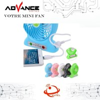 Kipas Angin Powerbank Mini Fan Votre Power Bank - Biru