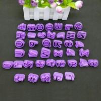 cetakan huruf dan angka fondant/ cutter alfabet abjad & angka fondant