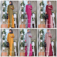 dress maxi/ fashion muslimah/ abaya lengan panjang
